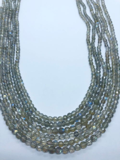 Labradorite Facated Round shape beads 4-4.5 MM