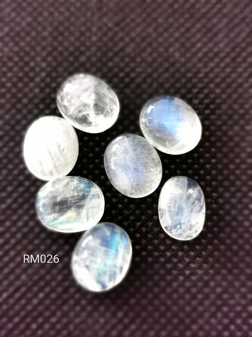 Rainbow Moonstone Smooth Cabochons RM026