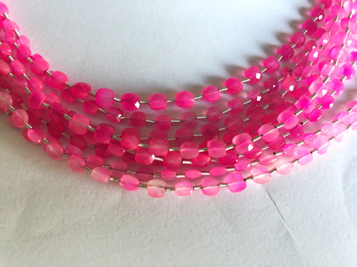 Pink Onyx 4MM  Faceted Checker (MULTIPLE SIZES)