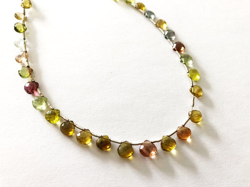 Autumn Tourmaline Faceted Heart Shape Briolettes (MULTIPLE SIZES)