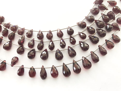 Garnet Faceted Round Bottom Briolettes (MULTIPLE SIZES)