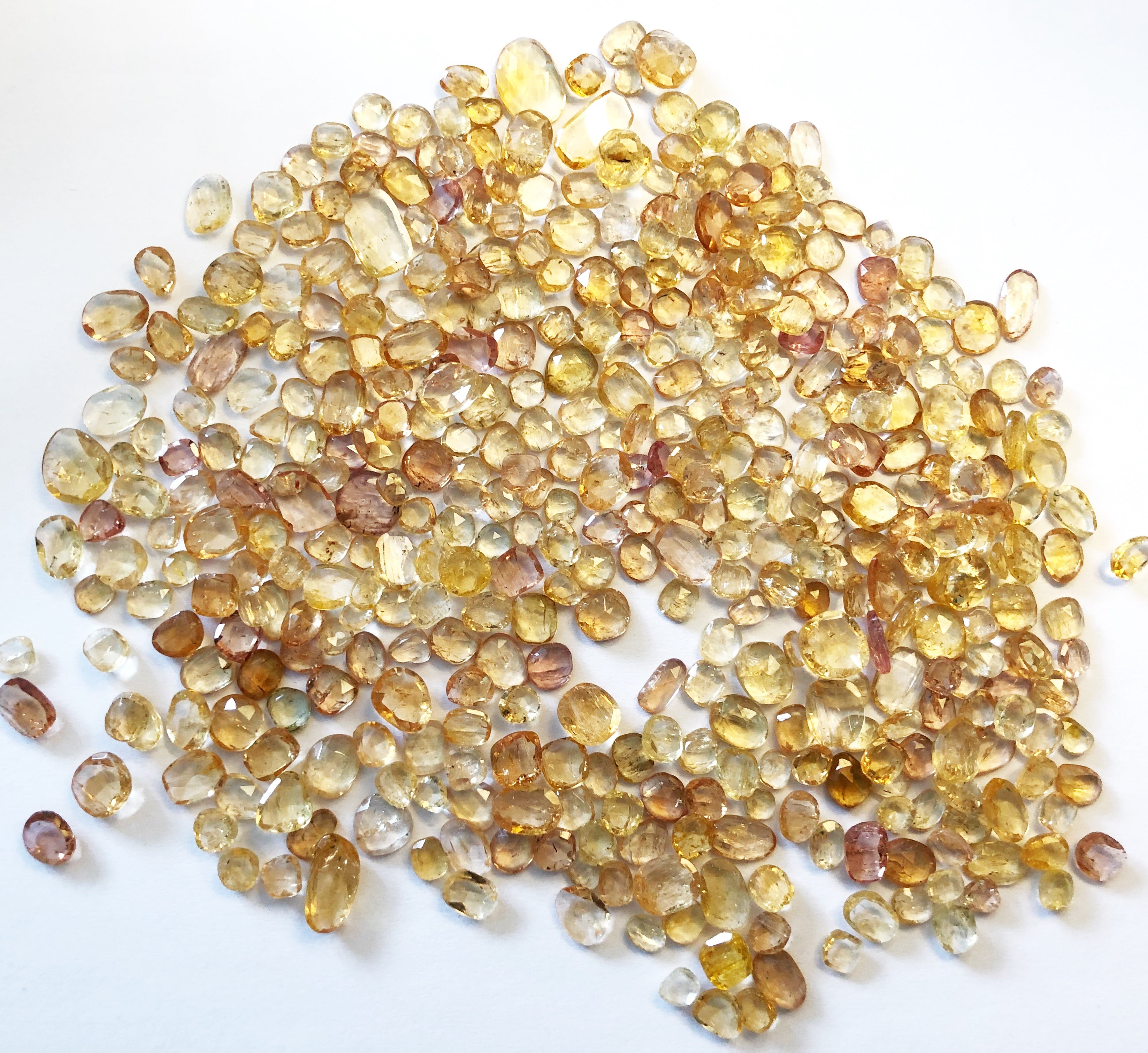 Imperial Topaz Organic Shape Rose Cuts Mix 5-6/6-8MM