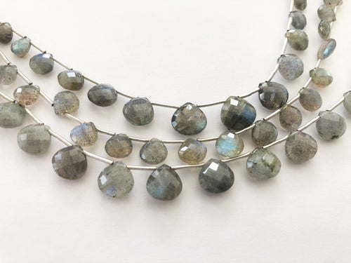 Labradorite Faceted HEART SHAPE (MULTIPLE SIZES)