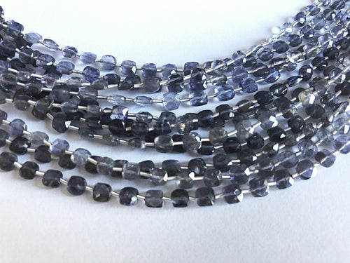 Iolite 4MM Faceted Checker (MULTIPLE SIZES)
