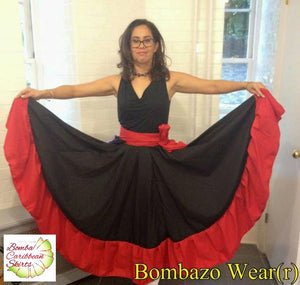 Bombazo Wear® Black and Red Skirt