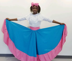 Bombazo Wear®  Light Blue Turqoise & Light Pink skirt