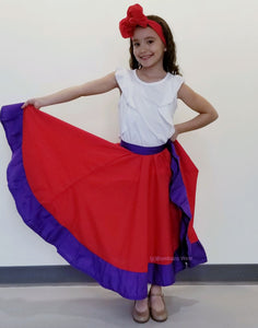 Bombazo Wear® Red & Purple Childrens Skirt