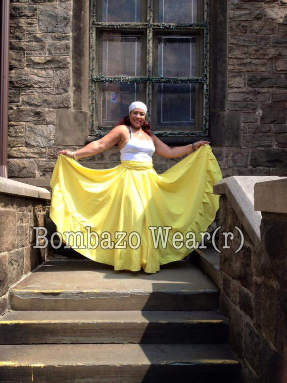 Yellow Bomba Caribbean Skirt