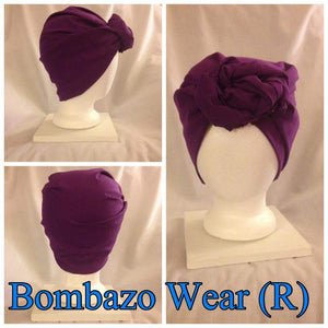Dark Purple Bombazo Wear Headwrap