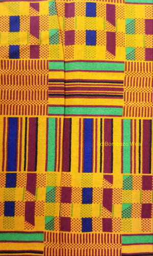 Kente african fabric Head wrap