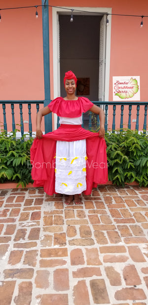 Laced Petit Coat/ Under  Bomba Caribbean Dance Skirt