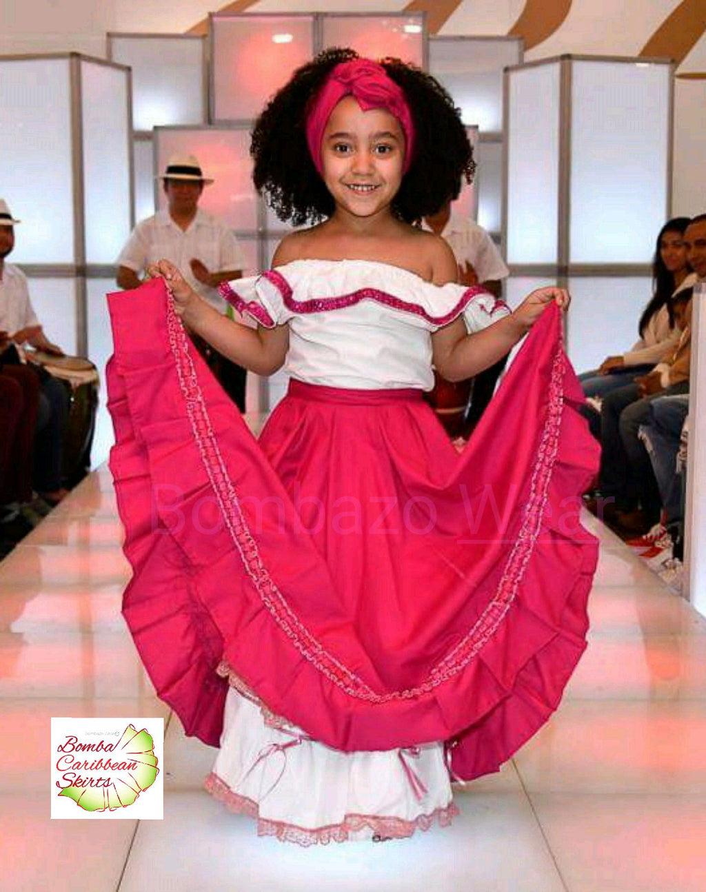 Chid Pink Bomba Caribbean SKirt