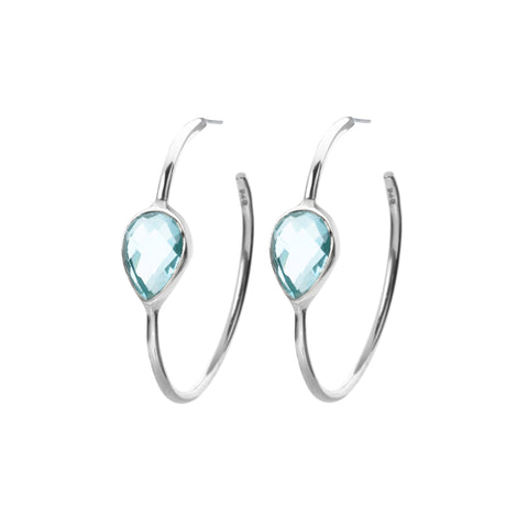 Topaz hoop earrings