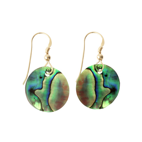 Nikki earrings: semi precious stone earrings handcrafted with Paua Shell gemstone - also known as Abalone gemstone