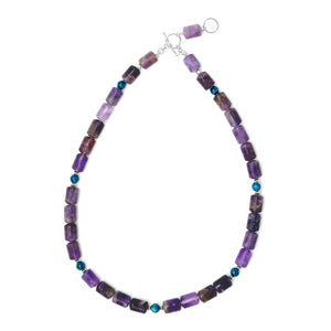 Apatite and Amethyst necklace