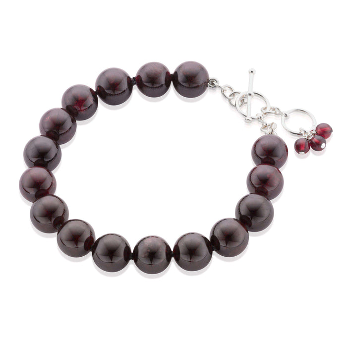 Statement Garnet gemstone bracelet  (1443422404720)