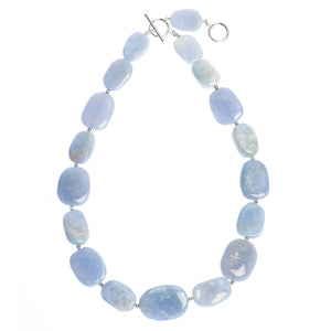 Chunky blue Agate necklace (4050752798806)