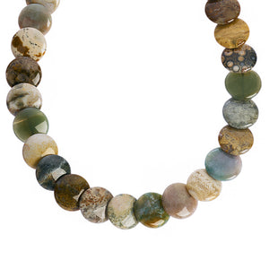 Jasper stone necklace - handmade beaded necklace (4050513133654)
