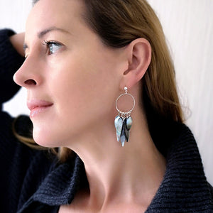 Eve - Sterling Silver and Mother of Pearl earrings (4120134975574)