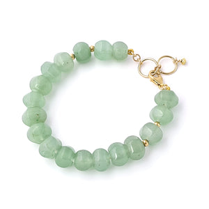 Harmony - 14K Gold filled and Aventurine bracelet