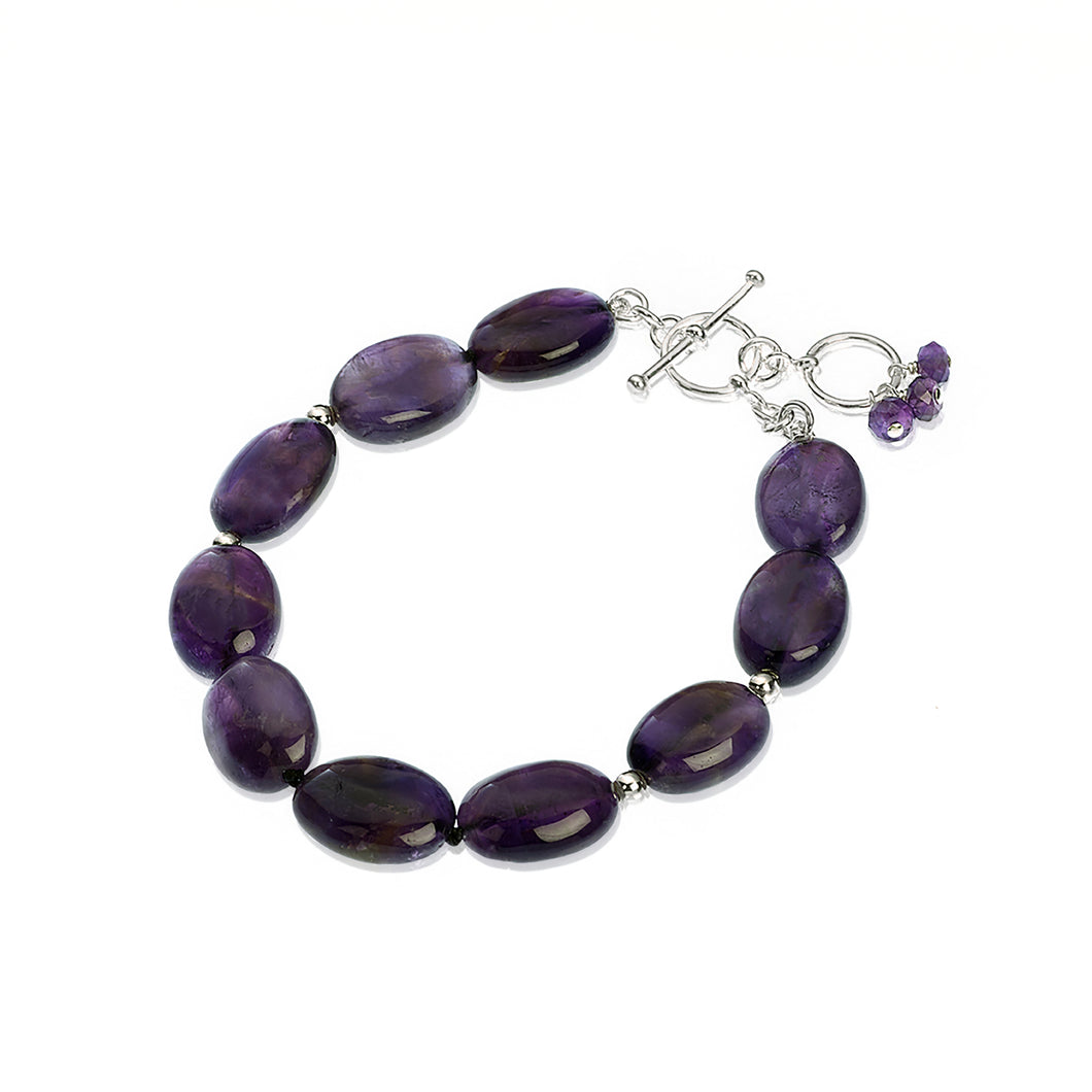 Iris: single row Amethyst bracelet (4100976148566)