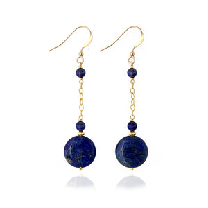 Lapis Lazuli long earrings
