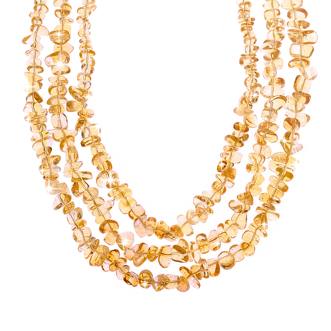 Citrine crystal necklace (4124220260438)