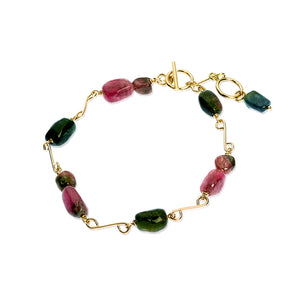 Delicate gold and Tourmaline bracelet