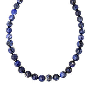 Ocean - Sterling silver and Sodalite necklace