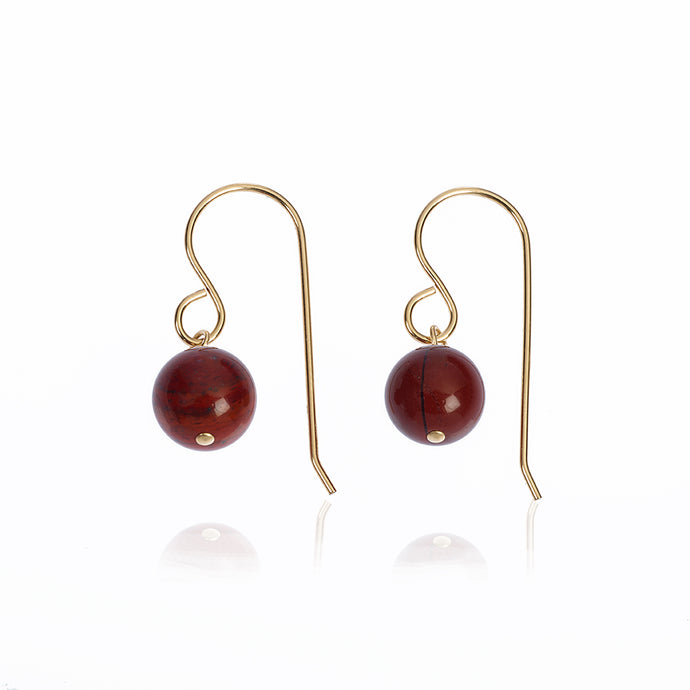 Red Jasper earrings - little drop earrings (4054695805014)
