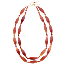 two row Carnelian and Agate necklace (4050891472982)