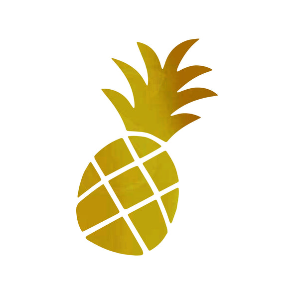 Jimmy Oakes Pineapple vinyl decal in Gold