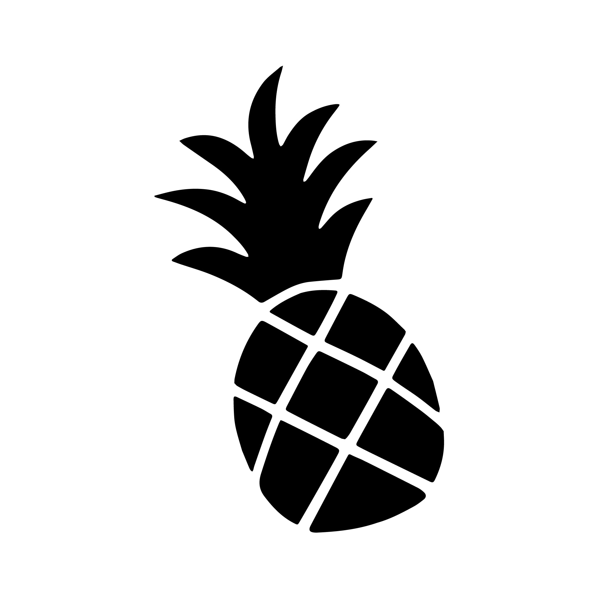 Pineapple Vinyl Decals | Jimmy Oakes for Clipart Pineapple Black And White  177nar