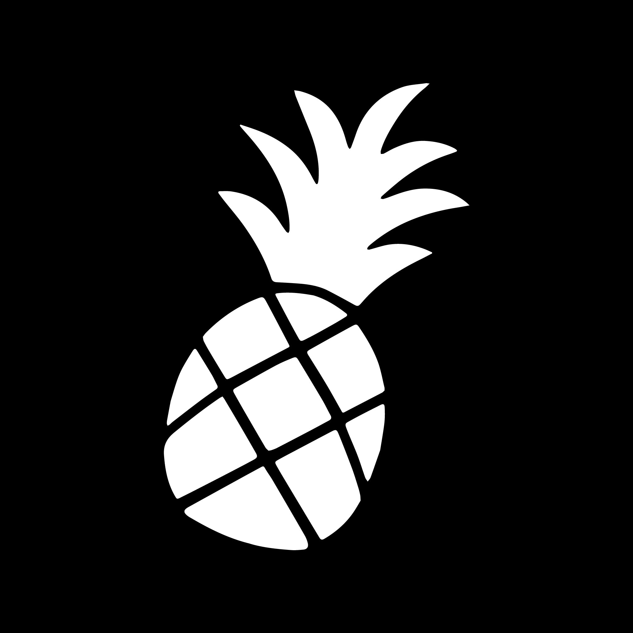 Jimmy Oakes Pineapple vinyl decal in White