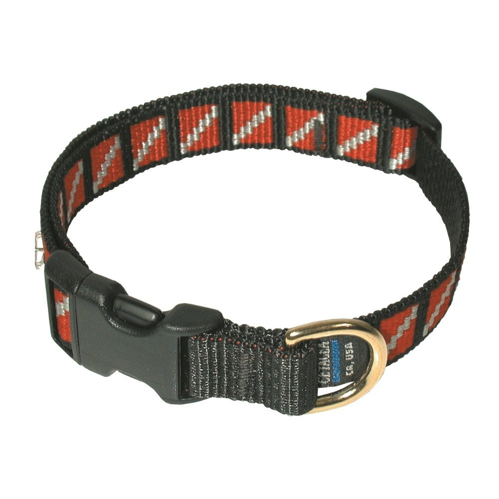 DIVE FLAG ADJ DOG COLLAR