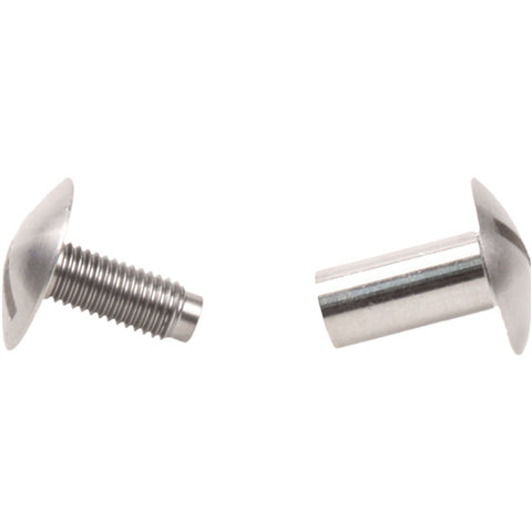 Two piece stainless steel screw fastener
