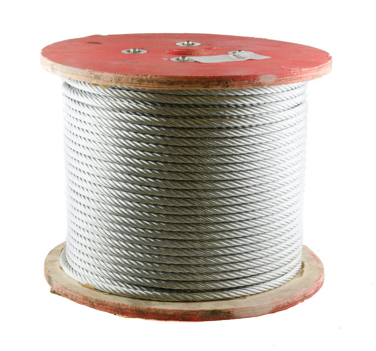 "Wire Rope, 3/8"" 7 X 19 Galvanized Steel (500' Reel)"