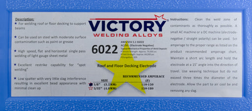 E6022 Deck Welding Electrode by Victory (50# Case)