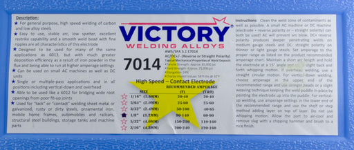 E7014 Welding Electrode  Victory (50# Case)