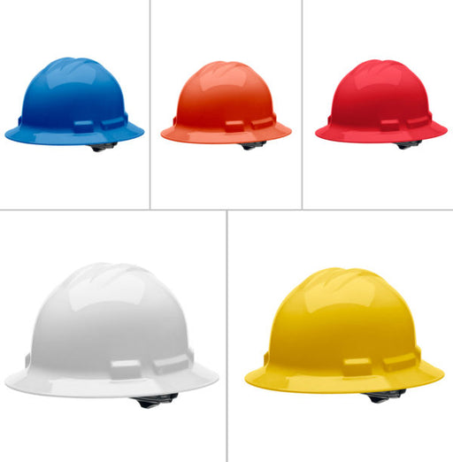 Malta Dynamics Full Brim Hard Hat with Ratchet Suspension