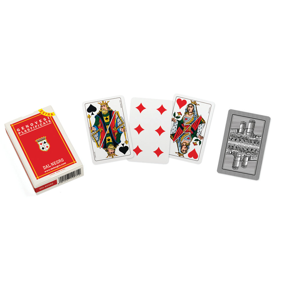 Italian Genoa regional playing cards (red)