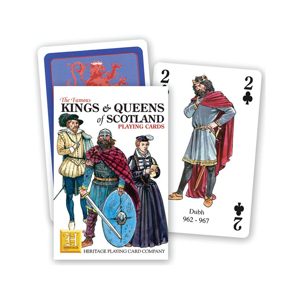 Kings and Queens of Scotland playing cards, front of pack