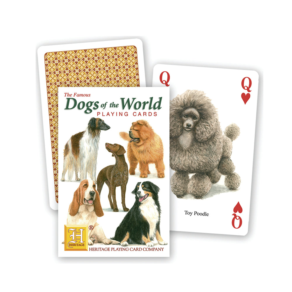 Dogs of the world playing cards, front of pack