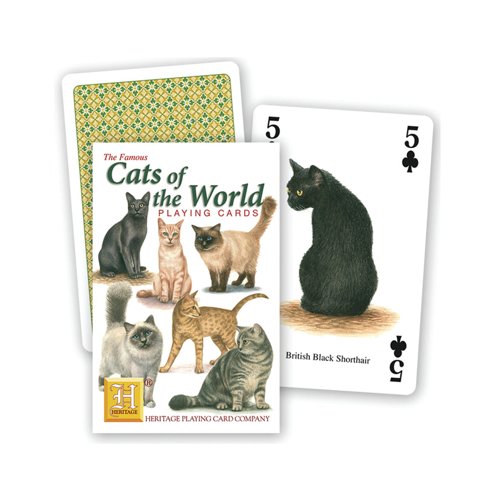 Cats of the world playing cards, front of pack