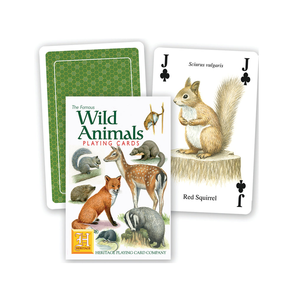 Wild animals playing cards, front of pack