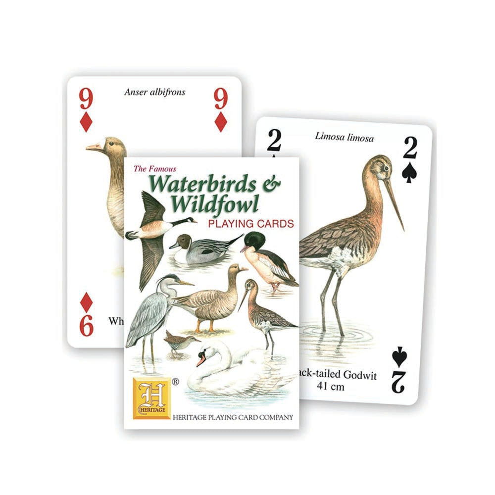 Waterbirds and water fowl playing cards