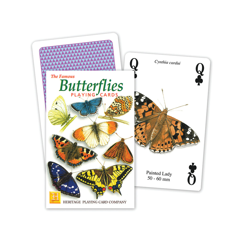 Butterflies playing cards, front of pack