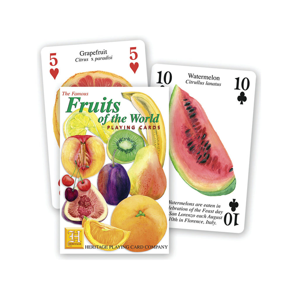 Fruits of the world playing cards