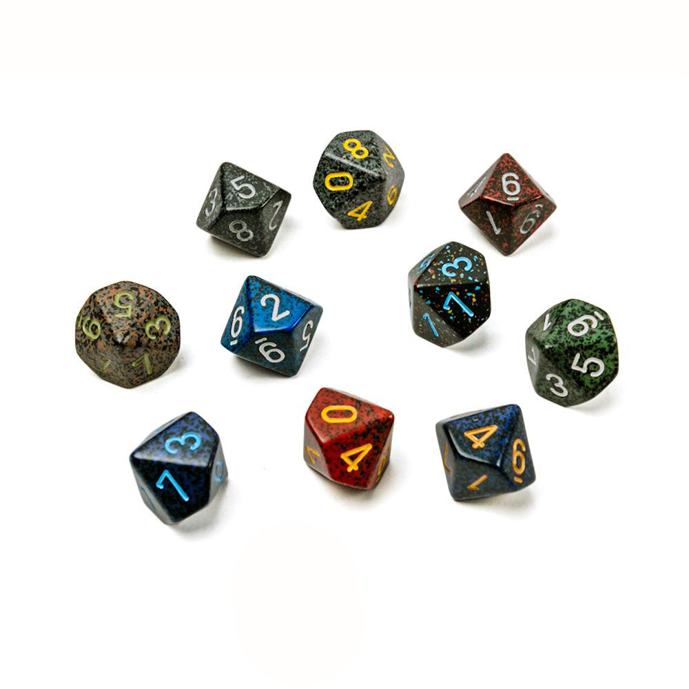10-sided dice: various colours (d10)