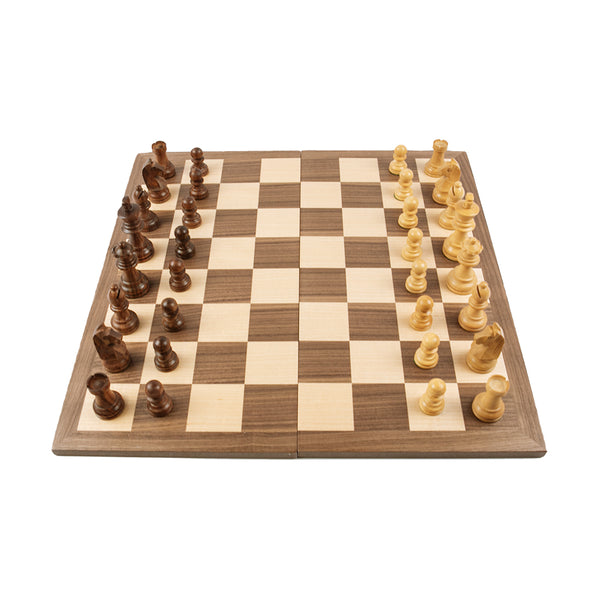2-in-1 games set: chess and draughts